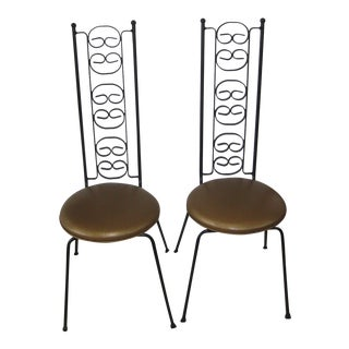 Mid Century Authur Umanoff Iron Chairs- A Pair For Sale