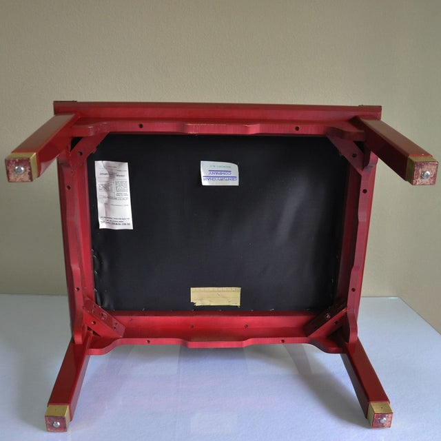Century Red Lacquer Ming Chair - Image 6 of 8