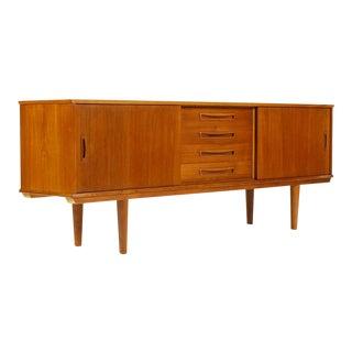 1960s Scandinavian Teak Credenza / Sideboard For Sale