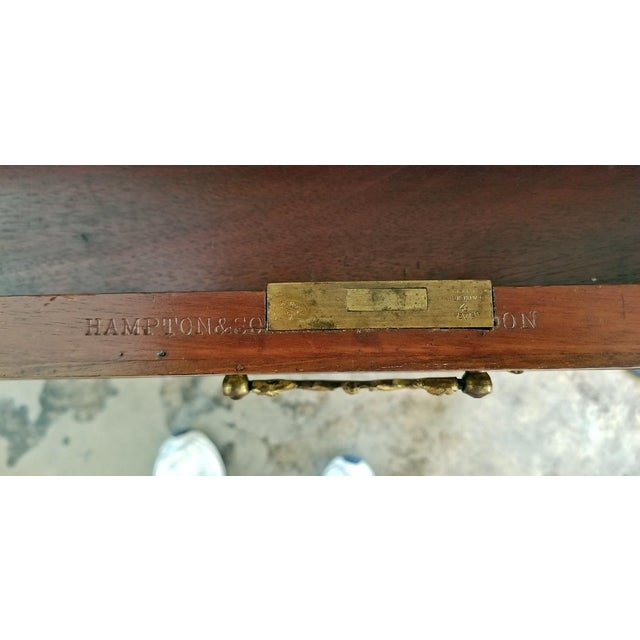 19c Hampton & Sons Chinese Chippendale Cylinder Desk For Sale - Image 11 of 12