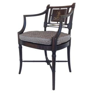 "Maison Jansen Hand-Painted Emblazoned ""Neptune"" or ""Poseidon"" Regency Chair For Sale"