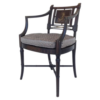 Maison Jansen Hand-Painted Regency Chair For Sale