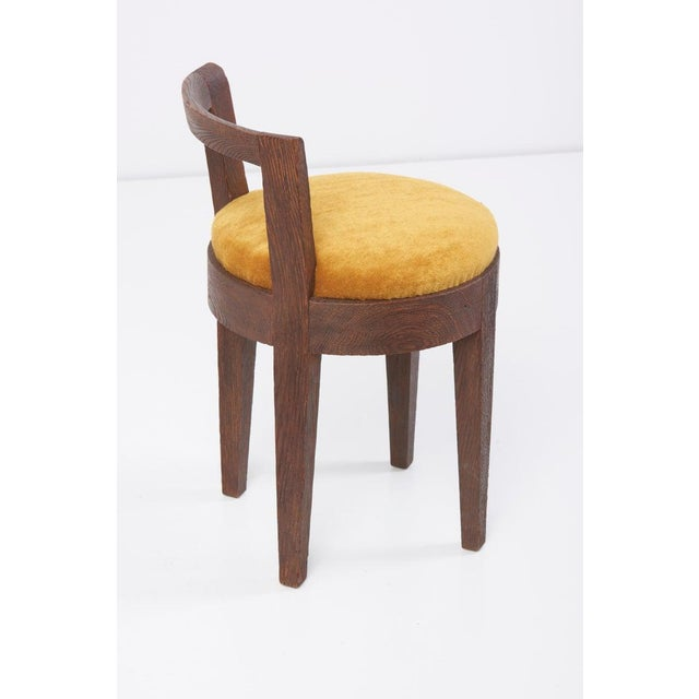 One of Two Pairs Art Deco Stools by Francisque Chaleyssin, France For Sale - Image 6 of 12