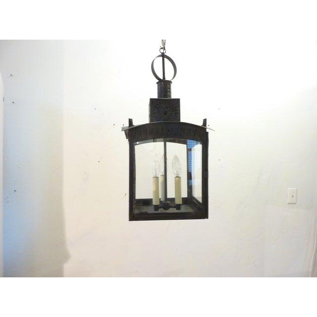 Metal American Tin Lantern For Sale - Image 7 of 8