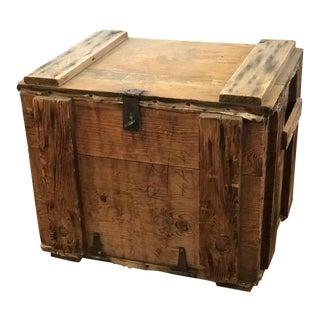 Antique Glasswear Cargo Shipping Box