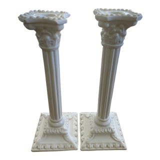 Vintage Spanish Candle Holders - a Pair For Sale