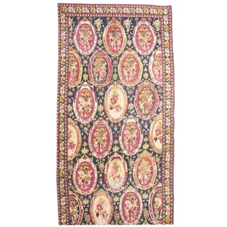 Blue & Red Karabagh Rug - 6′1″ × 18′9″ For Sale
