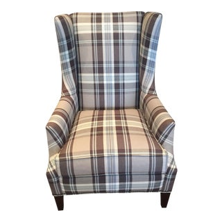 Huntington House Gray & Blue Accent Chair For Sale