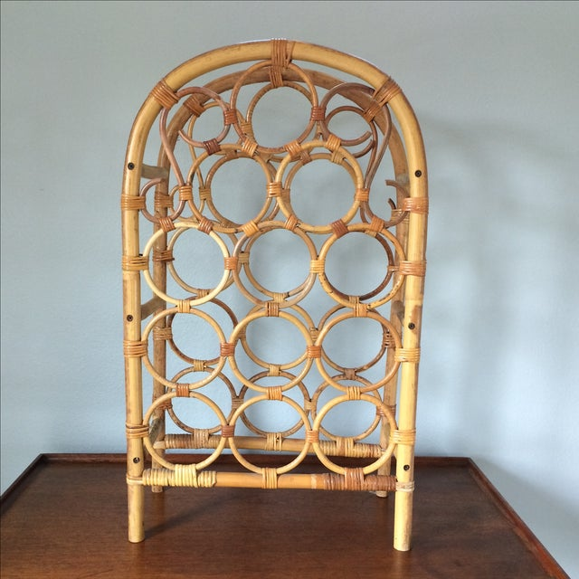 Vintage Bamboo Wine Rack - Image 4 of 11