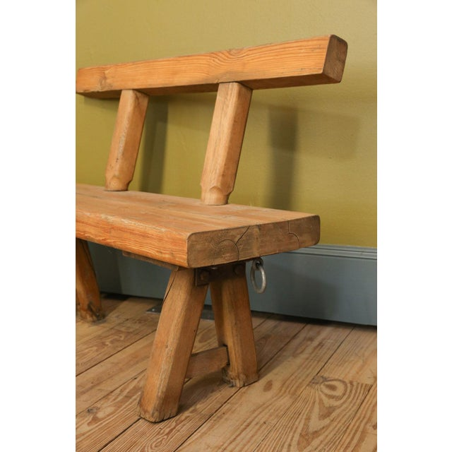 Chunky Oak Rustic Bench For Sale - Image 4 of 10
