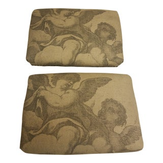 Micheal Angelo's the Creation Low Footstools - a Pair For Sale