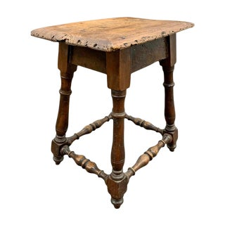 19th Century English Turned Pub Stool For Sale