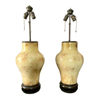 Vintage Artisan Hollywood Regency Table Lamps - a Pair For Sale
