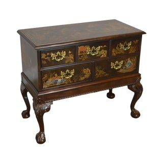 Henredon Rittenhouse Square Chippendale Mahogany Chinoiserie Ball & Claw Chest on Frame For Sale