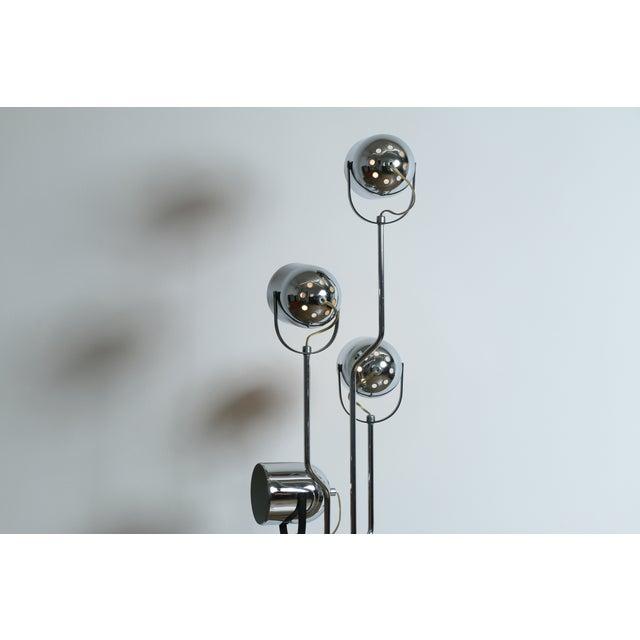 Reggiani Four Arm Chrome Floor Lamp - Image 7 of 7