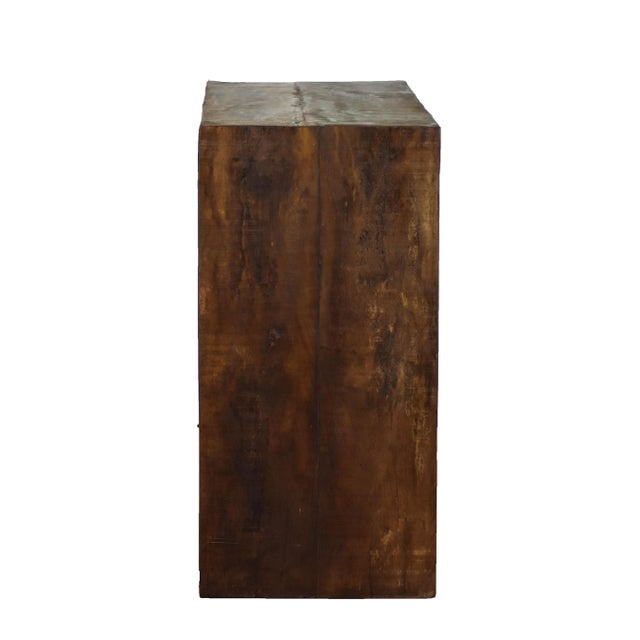 Mid-Century Modern Reclaimed Peroba Wood Handmade Eco-Friendly Bar Table For Sale - Image 3 of 4