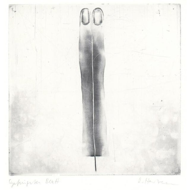 1970s 1970s Abstract Black and White Etching For Sale - Image 5 of 5