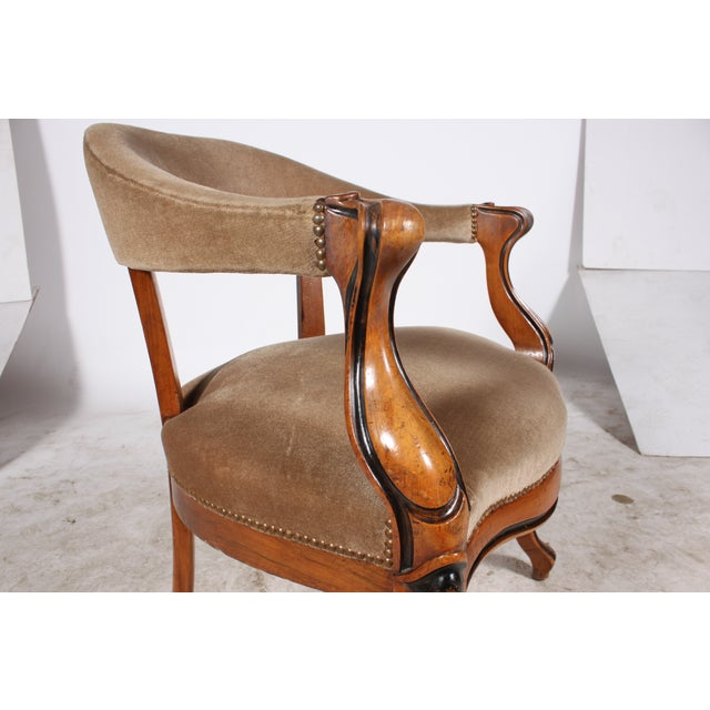 Danish Walnut Library Chair - Image 4 of 4