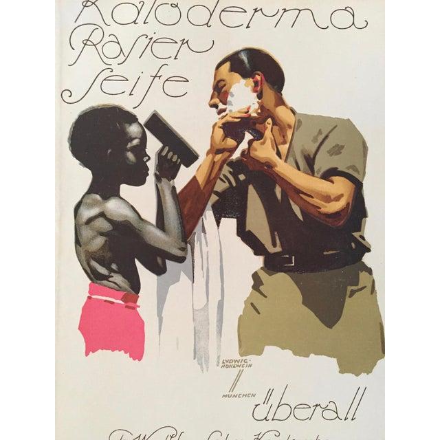 1927 German Art Deco Fashion Poster, Kaloderma Rasier Seife - Image 4 of 5