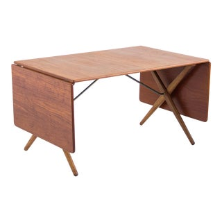 Hans J. Wegner Cross-Leg Dining Table by Andreas Tuck Model AT-309 For Sale
