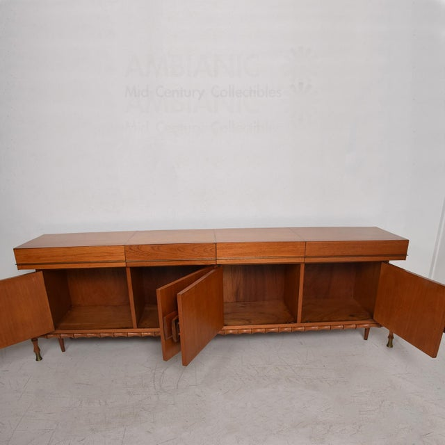 Frank Kyle Midcentury Mexican Modernist Floating Bamboo Credenza, Frank Kyle, 1960s For Sale - Image 4 of 12