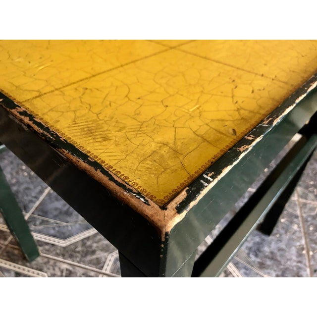 Green 20th Century Rustic Kittinger Modern Painted Side Table For Sale - Image 8 of 11