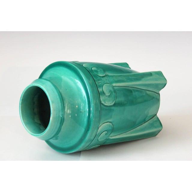 Awaji Pottery Japanese Art Deco Rocket Form Vase For Sale - Image 4 of 11