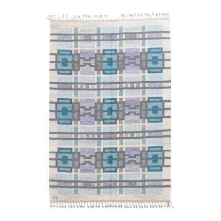 Scandinavian Modern Judith Johansson Tapestry Rug - 4'5'' X 6'8'' For Sale