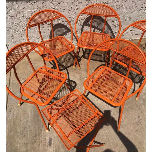 1960s 1960s Vintage Maurizio Tempestini for Salterini Hoop Seating Set- 6 Pieces For Sale - Image 5 of 8