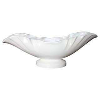 Weller Pottery Ivory Scalloped Edge Oval Planter