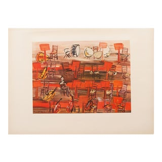 "1954 Raoul Dufy, ""Intermission"" First Edition Lithograph For Sale"