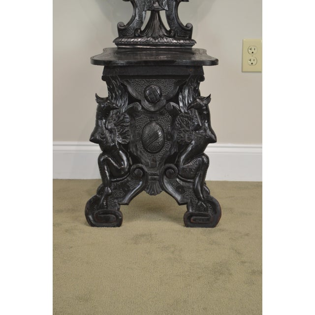 Italian Renaissance Antique Phoenix Carved Walnut Hall Chair For Sale - Image 10 of 13