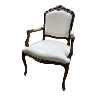 Vintage Chateau d'Ax Louis XV Style Italian Arm Chair For Sale
