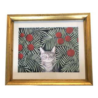 Cat Print by Contemporary Artist Judy Henn For Sale