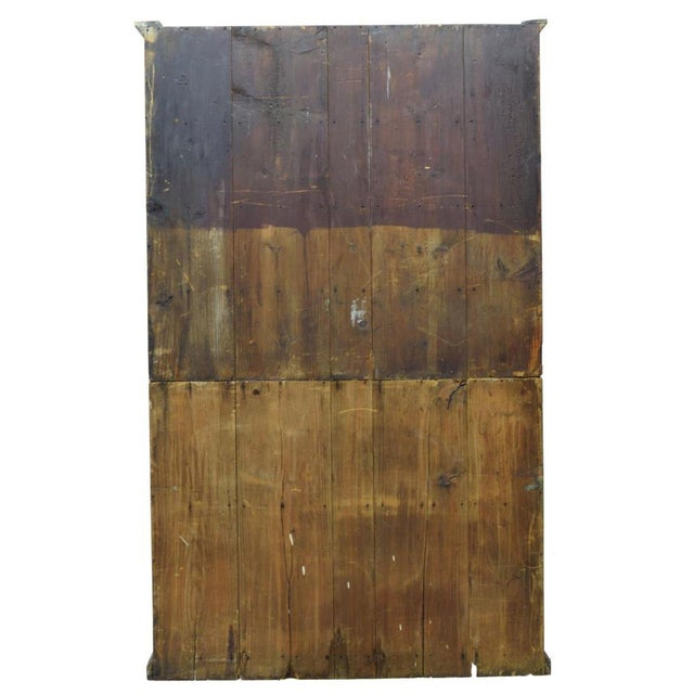 American 19th Century Rustic Colonial Pine Pewter Cupboard For Sale - Image 3 of 4