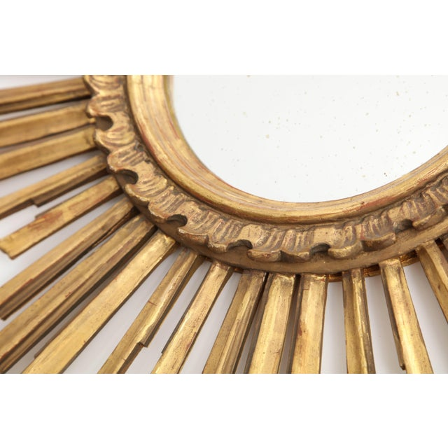 Mid 20th Century Giltwood Sunburst Mirror For Sale - Image 5 of 9