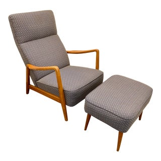 Danish Modern Dux Duxello Lounge Chair and Ottoman - Folke Ohlsson For Sale