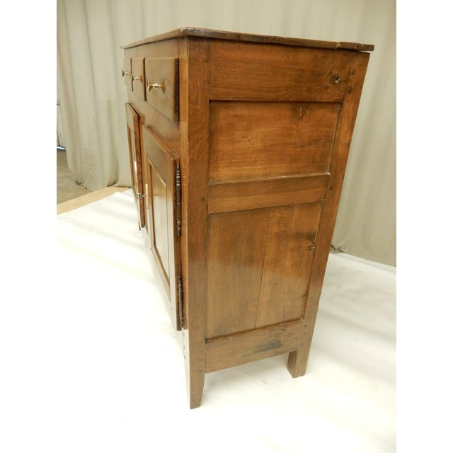 French Narrow French Provincial Walnut Buffet For Sale - Image 3 of 9