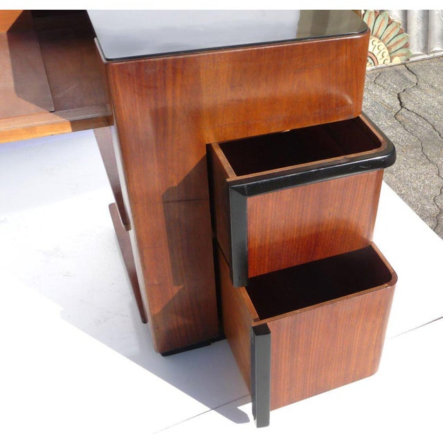 1930s Streamlined Art Deco Desk With Expanding Top For Sale In Los Angeles - Image 6 of 8