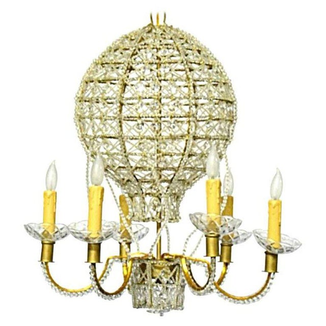 Crystal Baloon Form Chandelier For Sale - Image 7 of 7