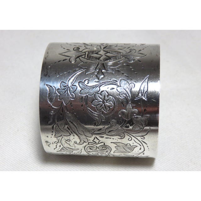 Late 19th Century Large Antique Sterling Silver Napkin Ring For Sale - Image 5 of 7