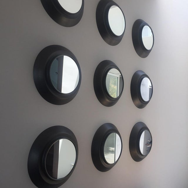 Industrial Circular Metal Wall Mirrors- Set of 9 - Image 4 of 6