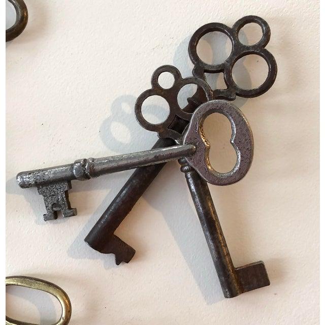 Set of 9 Antique & Vintage Skeleton and Door Keys For Sale - Image 10 of 13