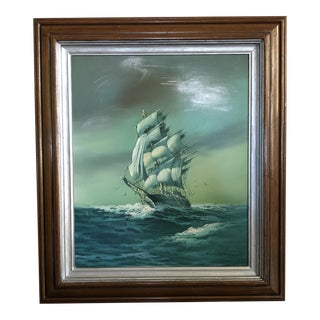 Vintage Nautical Painting For Sale