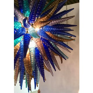 Myran Allen Luxury Lighting Modern Blue Mouth-Blown Murano Art Glass Chandelier in the Style of Dale Chihuahua Preview