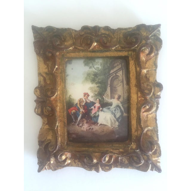 Various Artists Vintage Mid-Century Florentine Gilt Framed Art Pieces- Set of 5 For Sale - Image 4 of 9