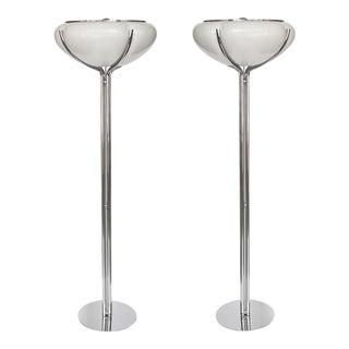 Gae Aulenti Quadrifoglio Floor Lamps - A Pair