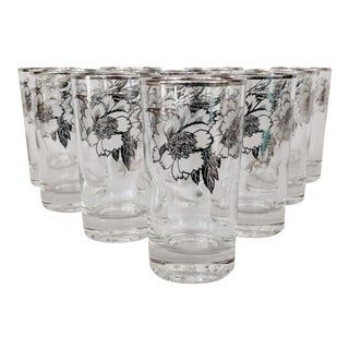 Sterling Silver Overlay Highboy Glasses - Set of 10 For Sale
