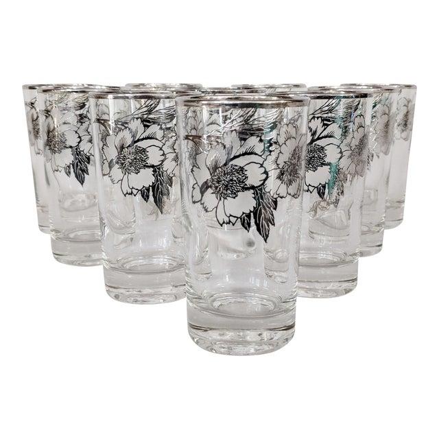 Sterling Silver Overlay Highboy Glasses - Set of 10 For Sale