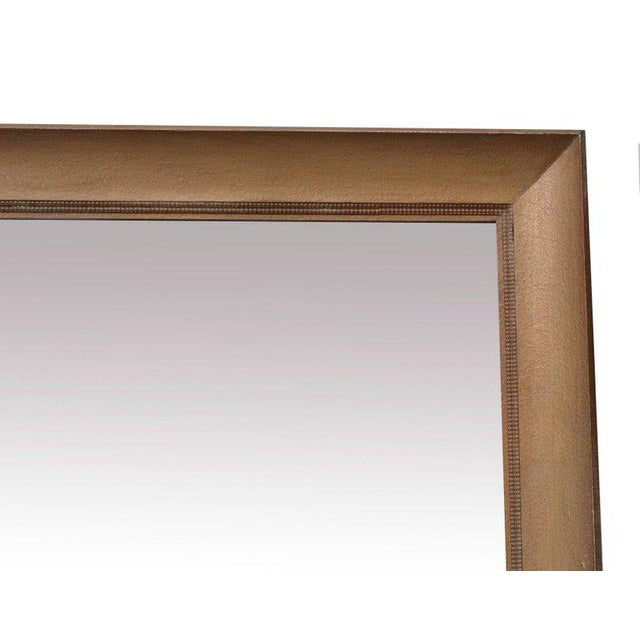 Mid-Century Modern Monumental Square Gold Finish Wall Mirror by James Mont For Sale - Image 3 of 4